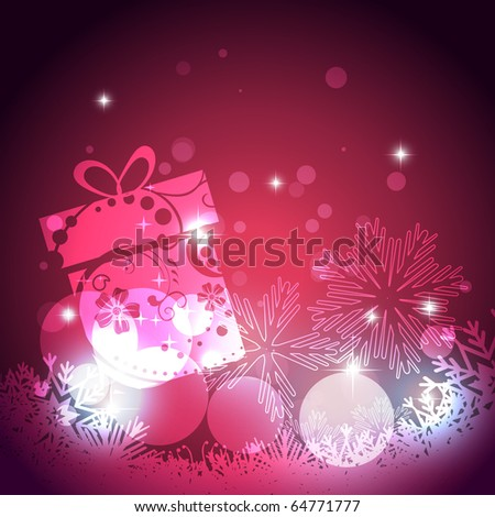 glowing christmas background design illustration