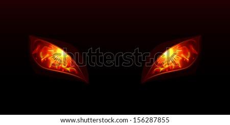 Glowing eyes - stock vector