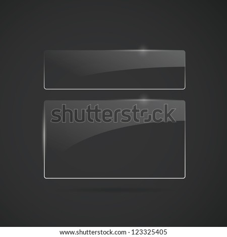Glowing glass panels. Vector - stock vector