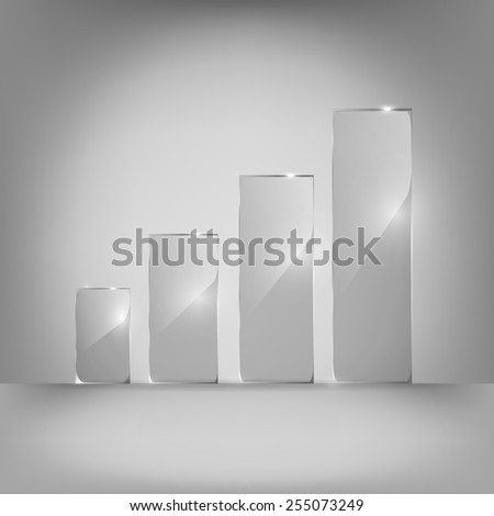Glowing glass panels. Vector. - stock vector