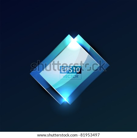 Glowing glass shapes. Vector abstract background - stock vector