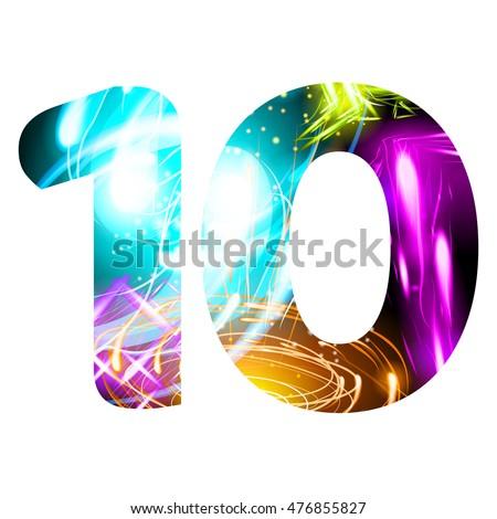 Glowing Light Effect Neon Font Firework Stock Vector 476855827