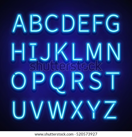 Neon lettering font idealstalist neon lettering font altavistaventures Image collections
