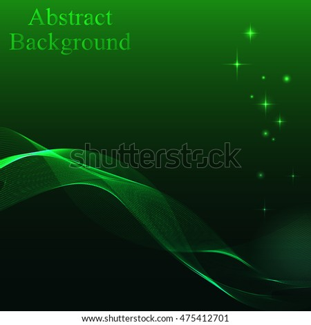 glowing neon waves on a green background