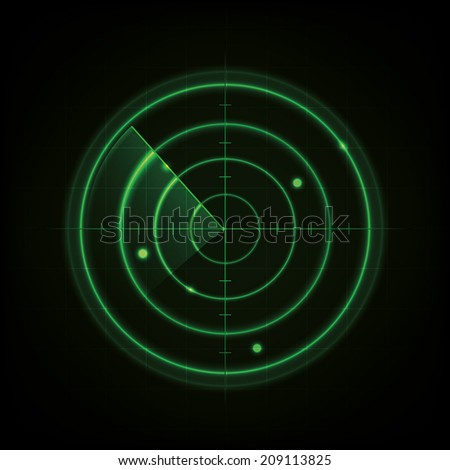Glowing Radar Design  - stock vector