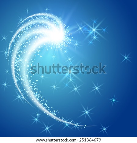 Glowing salute and firework with sparkle stars - stock vector