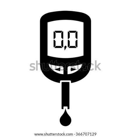 Glucose meter icon - stock vector
