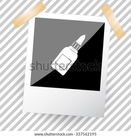 glue bottle. Photoframe. Vector icon. - stock vector