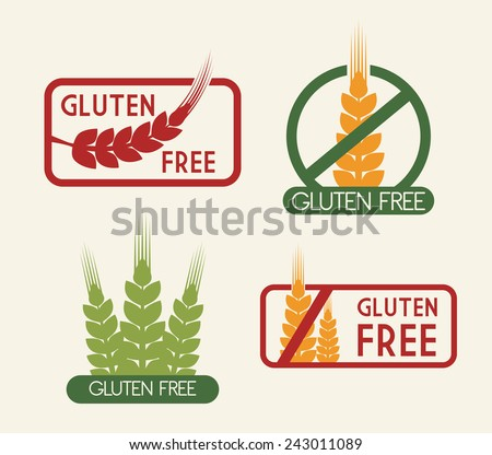 gluten free design, vector illustration eps10 graphic  - stock vector