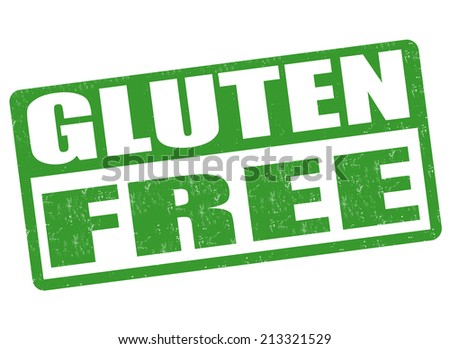 Gluten free grunge rubber stamp on white background, vector illustration - stock vector
