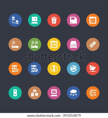 Glyphs Colored Vector Icons 27