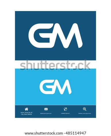 Gm letter template logo g m stock vector 485114947 shutterstock gm letter template logo and g and m business card template design vector template for colourmoves