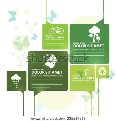 go green - stock vector
