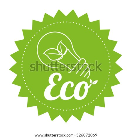 Go green and ecology design, vector illustration graphic. - stock vector