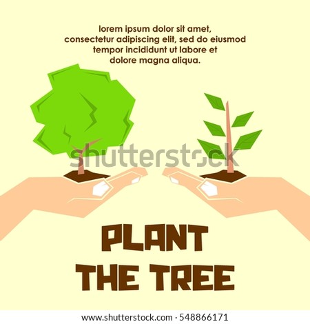 Planting Tree Process Infographic Apple Tree Stock Vector ...