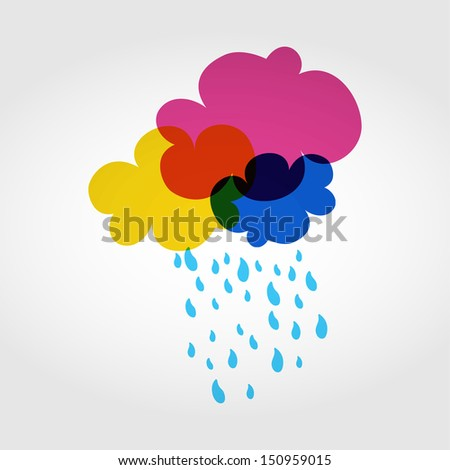 Go green colorful city clouds. Industry sustainable development with environmental conservation background illustration. Vector file layered for easy editing. - stock vector