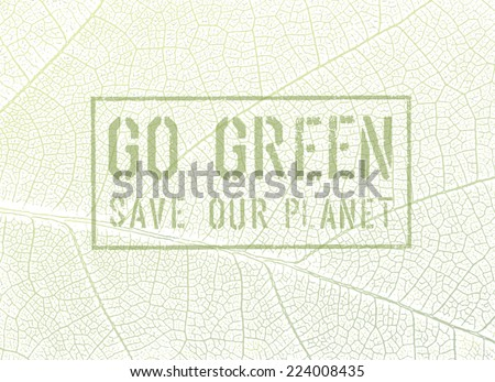 Go Green Concept - stock vector