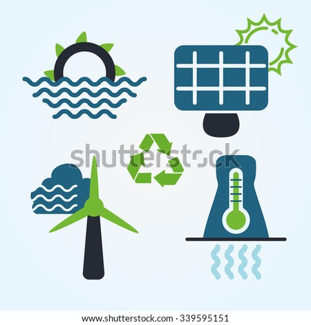 Go green concept with eco icons design, vector illustration 10 eps graphic - stock vector