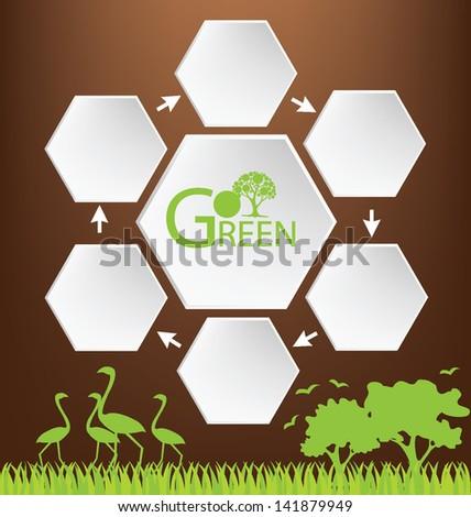 Go green. Design Template. vector illustration. - stock vector