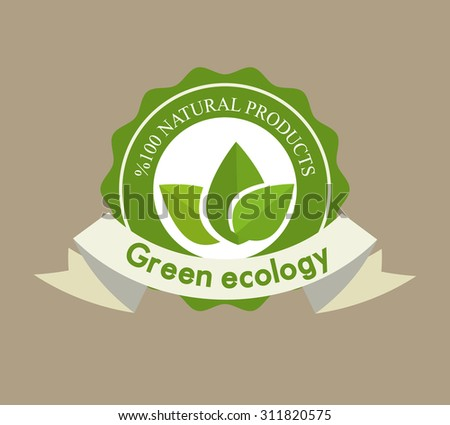 Go green design, vector illustration eps 10.