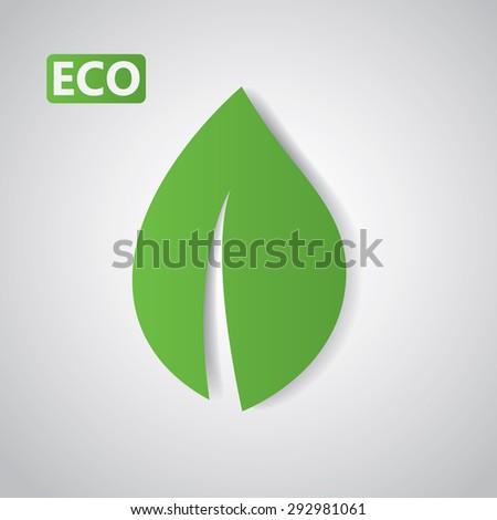 Go green. Eco friendly, eco leaf - stock vector