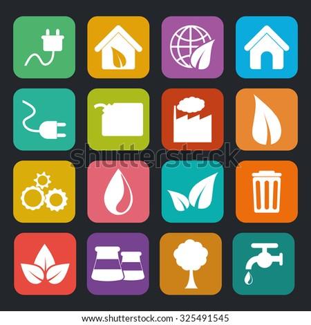 Go green ecology theme design, vector illustration. - stock vector