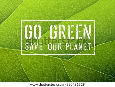 Go Green Poster, Vector - stock vector