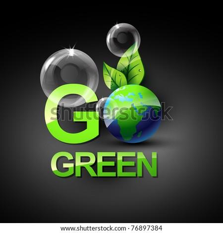 go green vecto symbol style design - stock vector