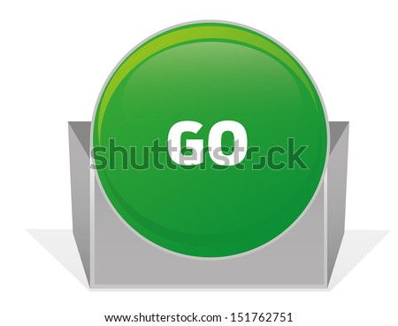 GO SIGN - stock vector