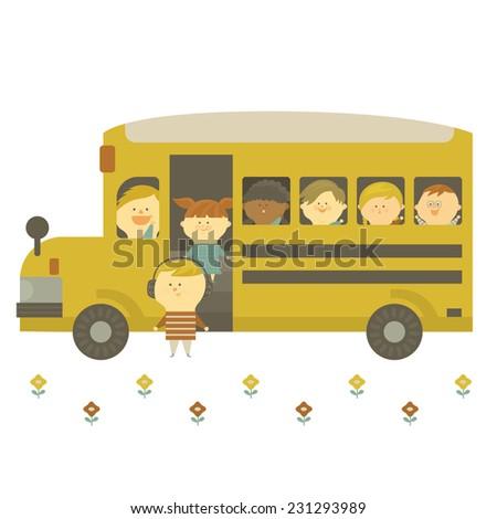 go to school - stock vector