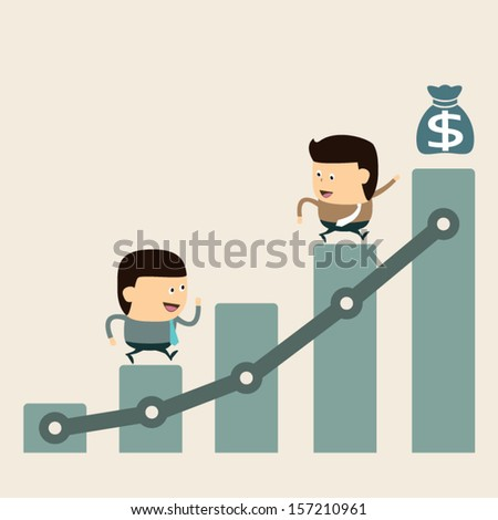 Go to the Goal and Success financial - stock vector