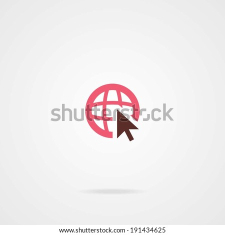 Go To Web Icon. Eps.10 - stock vector