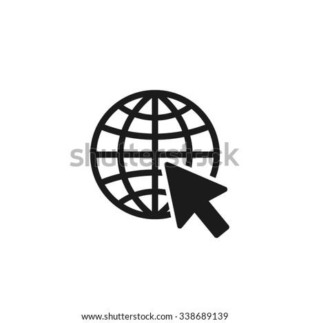 go to web icon, go to web Icon EPS10, go to web icon flat, go to web icon picture, go to web icon vector,  go to web icon graphic, go to web icon object, go to web icon JPEG, go to web icon image - stock vector