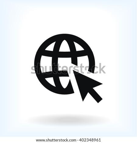 Go to web Icon, go to web icon flat, go to web icon picture, go to web icon vector, go to web icon EPS10, go to web icon graphic, go to web icon object, go to web icon JPEG, go to web icon picture - stock vector