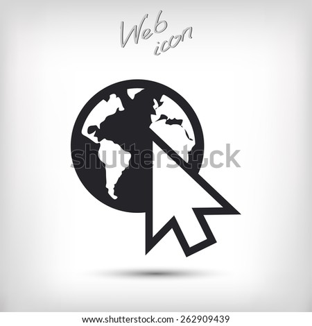 go to web icon, vector illustration. Flat design style  - stock vector