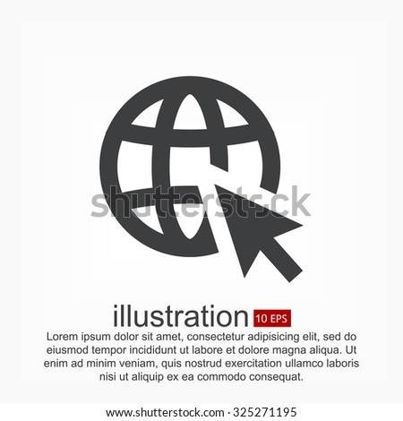 go to web. vector icon 10 EPS - stock vector