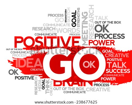 GO Word Cloud with related tags, vector business concept background - stock vector