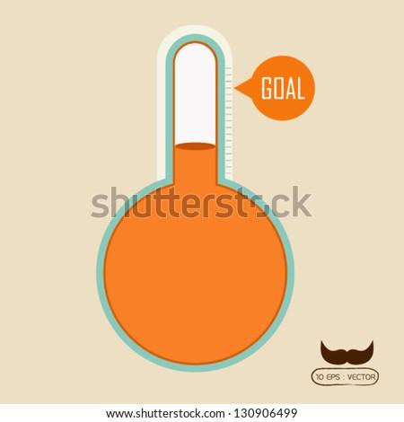 Goal concept - stock vector