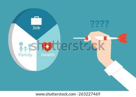 Goal setting. - stock vector