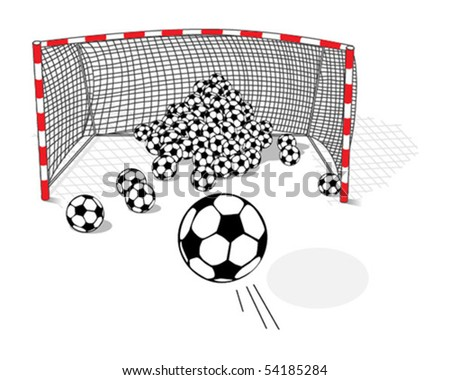 Goal shot - stock vector