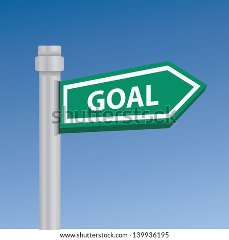 Goal signpost,vector - stock vector