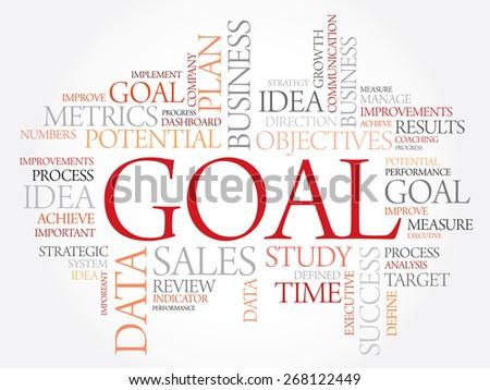 Goal word cloud, business concept - stock vector