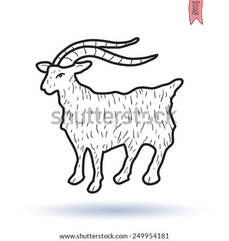 goat vector illustration, coat of arms - stock vector
