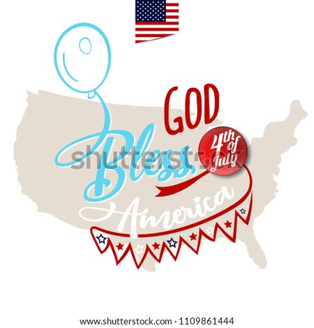God bless america greeting card design stock vector 1109861444 god bless america greeting card design with amrica map on background vector eps10 m4hsunfo