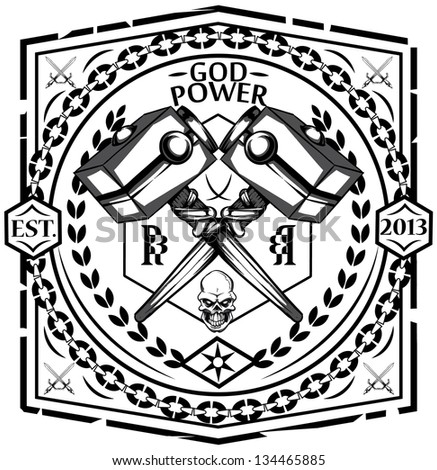 God power - stock vector
