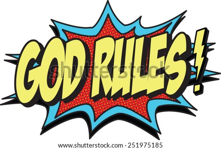 god rules - stock vector