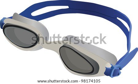 Swimming Goggles Vector Goggles For Swimming Vector