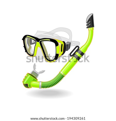 Goggles with Snorkel - stock vector