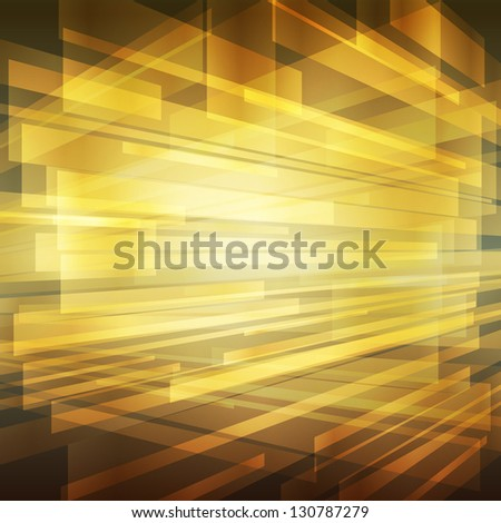 Gold abstract metal background vector with transparent elements - stock vector