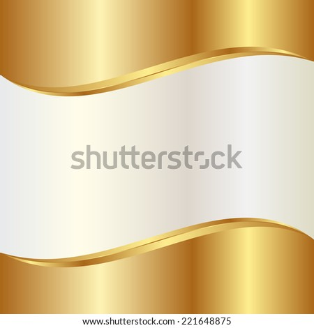 gold and pearl abstract background - stock vector